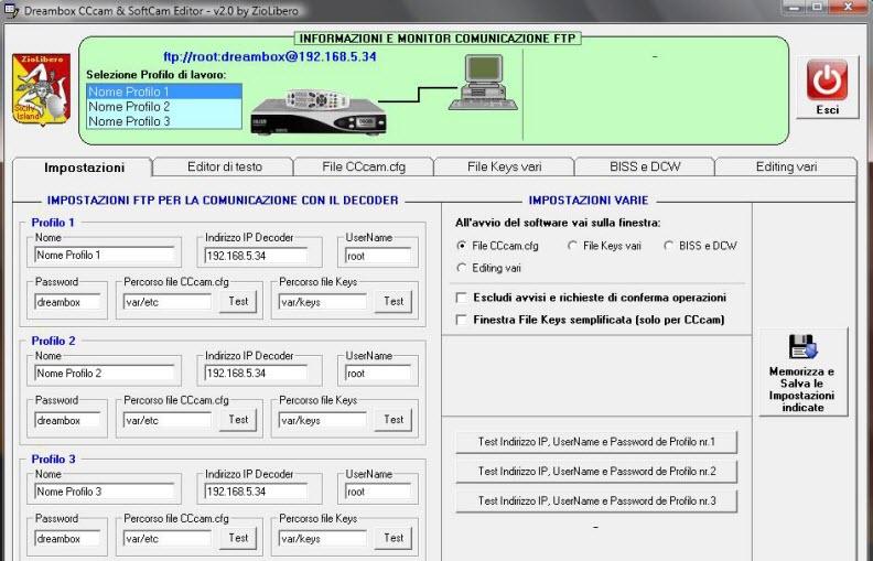 CCcam SoftCam Editor v2.0