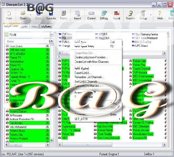 نسخه محدثه لتعديل ملف القنوات :New Setting Editor DreamSet v2.29