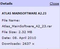 تحديثات جديدة لاجهزة الاكريستور والنسخة a2.23 بتاريخ 08/04/2010