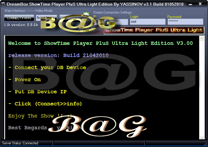 DreamBox ShowTime Player PluS Ultra Light Edition V3.1 Build 01052010