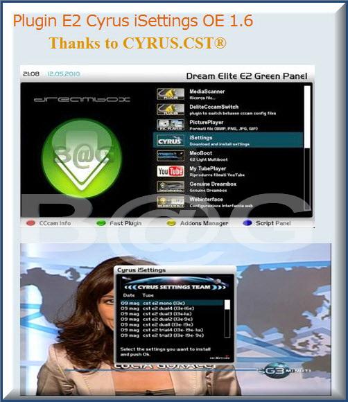 Plugin E2 Cyrus iSettings OE 1.6