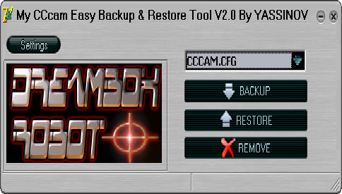 My CCcam Easy Backup Restore Tool V2.0