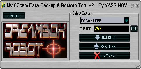 My CCcam Easy Backup Restore Tool V2.1