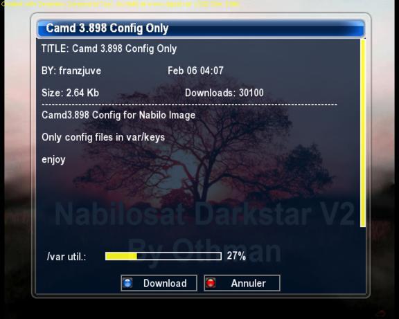 بتاريخ 29/08/2010 :Nabilosat Darkstar2 بسكين Spectrum و Cccam 2.1.4