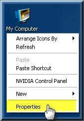 ����� ����� �� ����� ������� �������� � Windows Xp