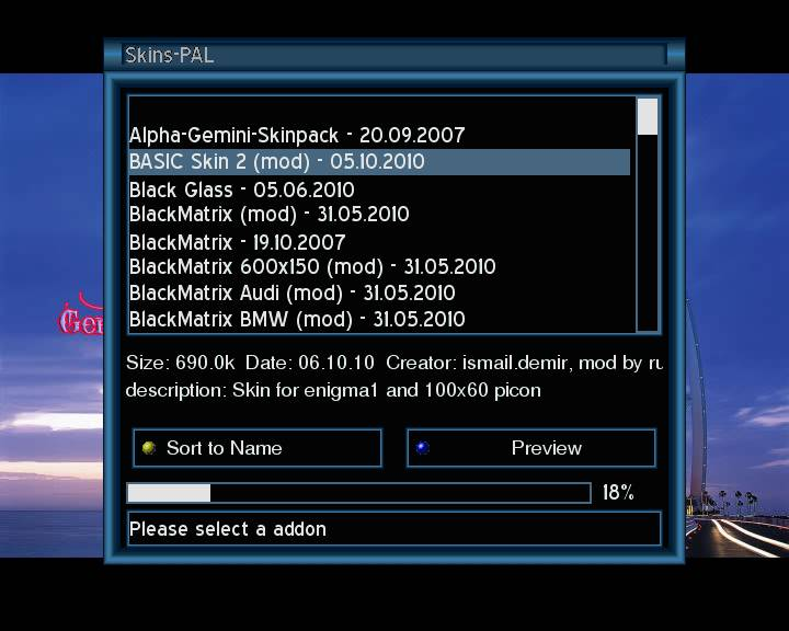 ������ 07/10/2010 : Gemini 4.70 ����� Basic skin 2 ������ BisTv