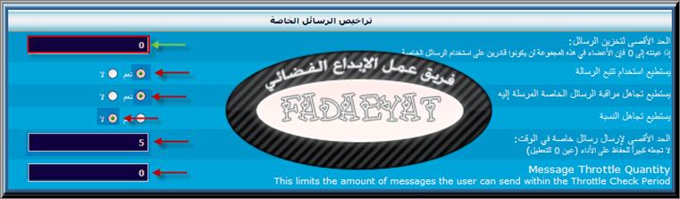 شرح منع الاعضاء من ارسال رسالة تستقبل فقط