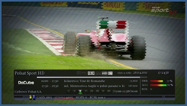 CCcam 2.1.3-Oscam For CuBiC E² Image