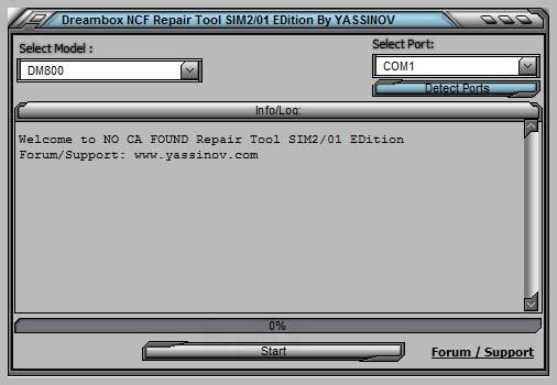 Dreambox NO CA FOUND Repair Tool SIM2/01 EDition