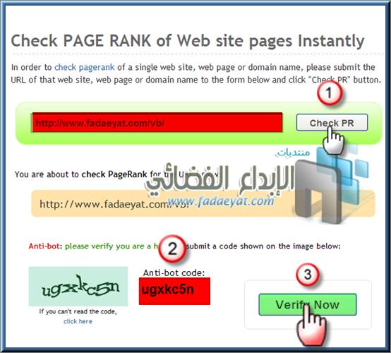 شرح فحص البيج رانك - فحص البيج رانك - معرفة بيج رانك موقعك - Check Page Rank of Web site pages