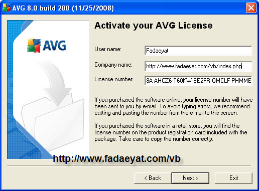 •• AVG Anti-Virus 8.0.200 + serial