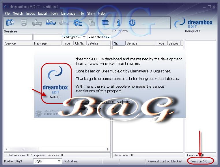 جميع اصدارات برنامج تحرير القنوات : DreamBoxEDIT v5.3.0.0