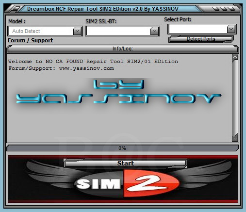 Dreambox NO CA FOUND Repair Tool NCF SIM2/V2 EDition