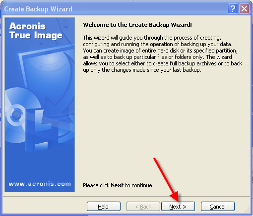برنامج Acronis True Image Home v10.0.4940 للنسخ الاحتياطي للانظمه