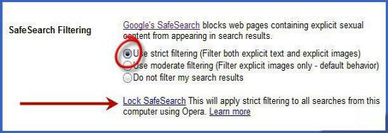 طريقة حجب المواقع الجنسية عن طريق بحث جوجل