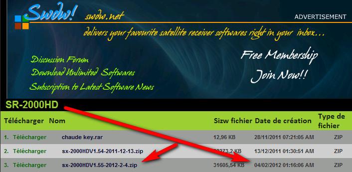 سوفتوير STARSAT 2000HD V1.55 العملاق بتاريخ 4-2-2012