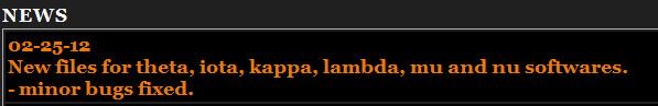 جديد اجهزة  الموريسات theta, iota, kappa من الموقع الرسمي بتاريخ  25022012