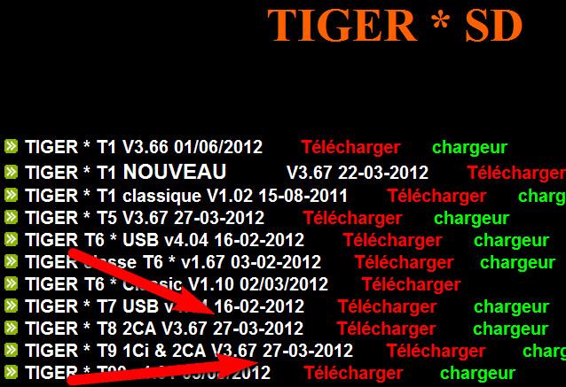 جديد اجهزة التايغر من الموقع الرسمي 29/3/2012 - تايجر T1  T5 T8  T9