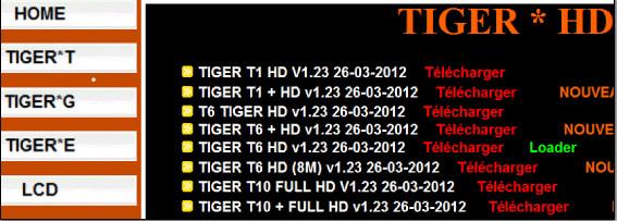 جديد اجهزة التايغر من الموقع الرسمي 29/3/2012 - تايجر T1+ T5+T8+ T9