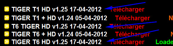 جديد اجهزة التايغر من الموقع الرسمي بتاريخ 17-04-2012