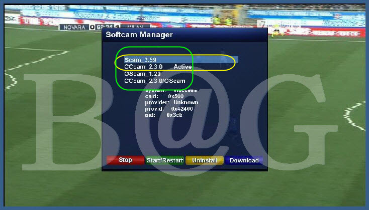 Softcam Manager for OE2.0