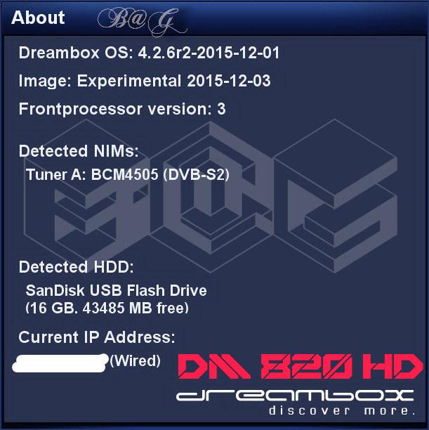 ������ ��� ���� 820 ��� �� DM 820 HD ���� ��� GP3.3