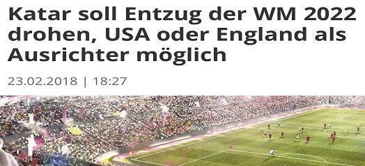 تفاصيل نقل مونديال 2022 من قطر إلى إنجلترا أو أمريكا