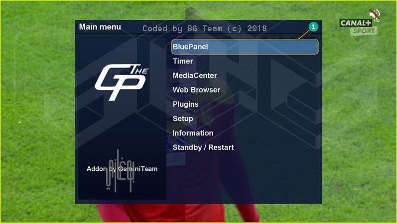طريقة اظهار البيانات Infobar على شريط المعلومات في بلجين GP4