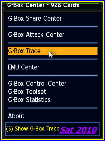 ��� ������� ����� Gbox Trace �� ���� Gbox Center �� Gbox Suite