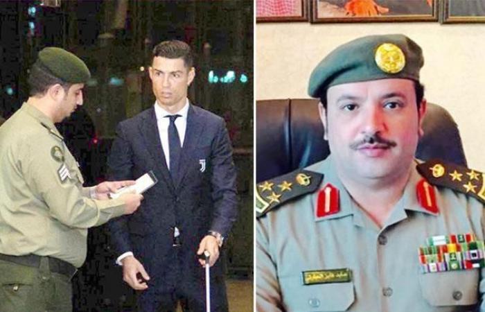 صور رونالدو في السعودية , بالصور موظف سعودي يوقف رونالدو للتدقيق في هويته