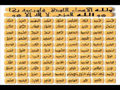 الدعاء بأسماء الله الحسنى , ولله الأسماء الحسنى فأدعوه بها