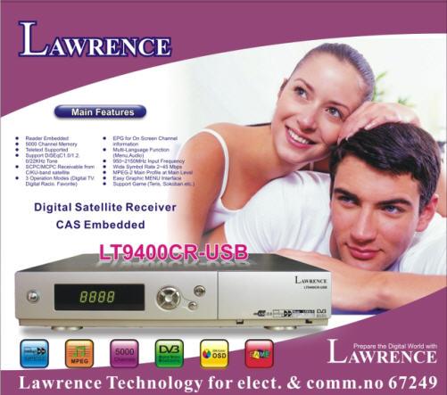 الاصدار الجديد لورنس LAWRENCE_LT9400CR-USB-2CA Ethernet بتاريخ 18/2/2009