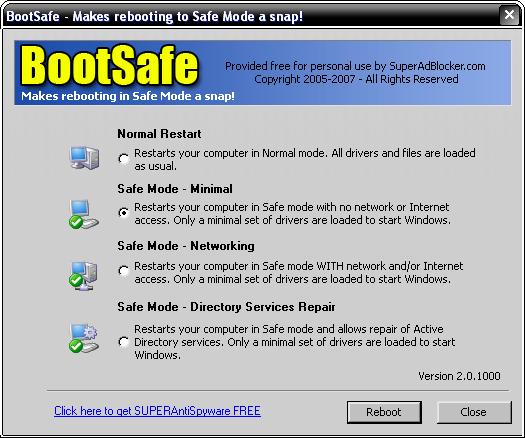 ������ BootSafe 2.0.1000 ������ ��� ����� ���