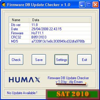 Firmware DB Update Check للبحث عن قاعدة بيانات جديدة لباتشات فريق HoT