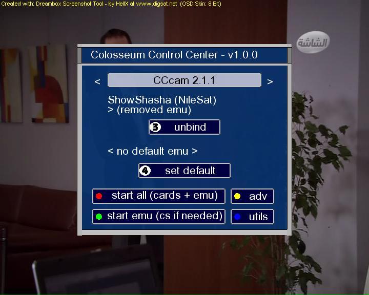 ���� CCcam 2.1.1 �������� ������ ����� colosseum �� ������