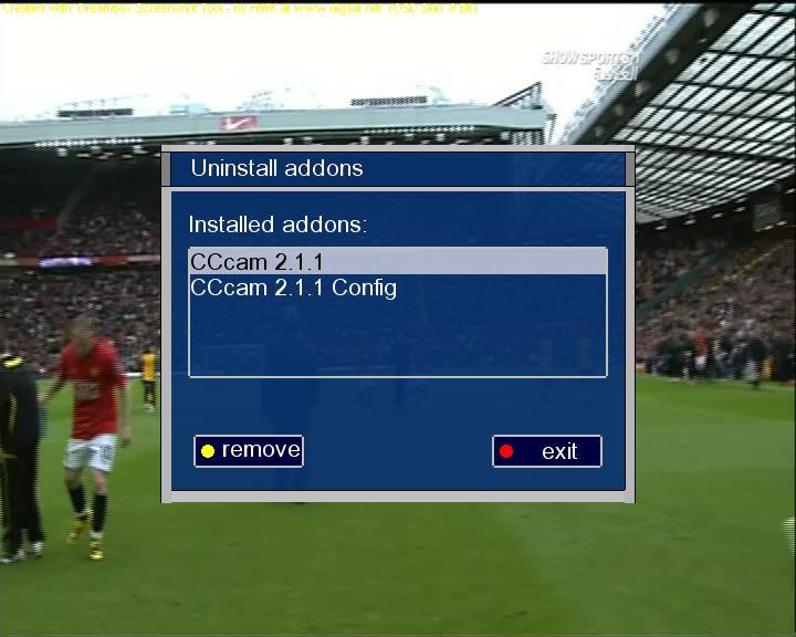 إيمو CCcam 2.1.1 وللتنصيب الذاتي لصورة colosseum من إعدادي