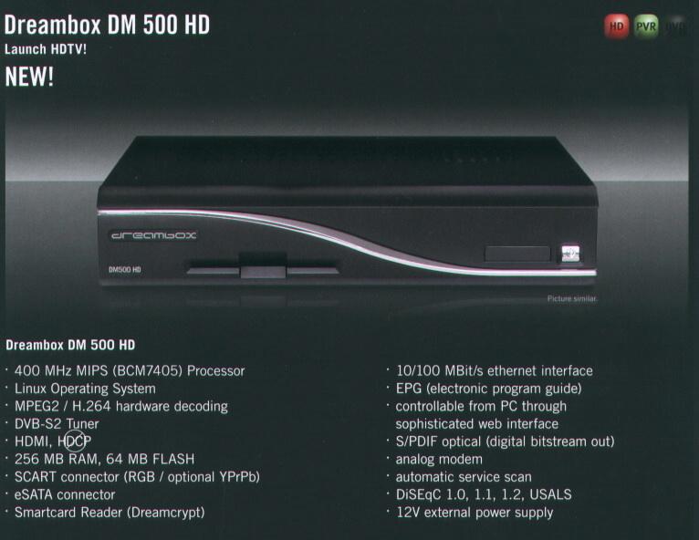 New Dreambox 500 HD(������ �� ��������� ������ ������)