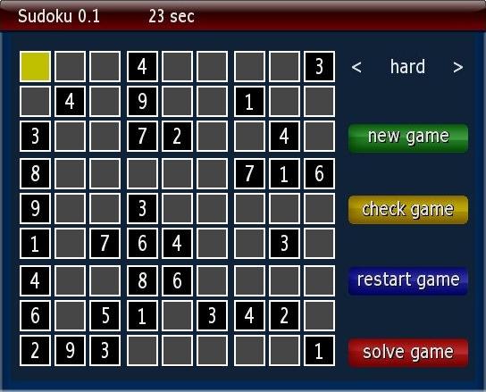 Sudoku 0.1 Plugin