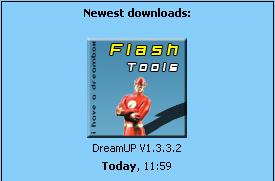 أحدث إصدرا من يرنامج الفلاش لدريم بوكس 800 DreamUP