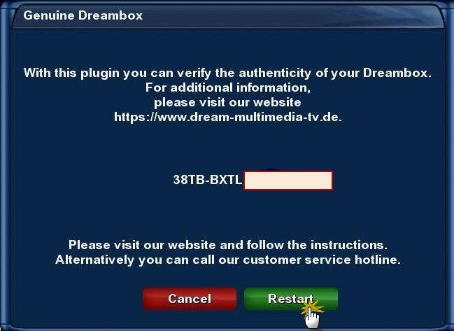 للتأكد من جهازك أصلي أو غير أصلي DM800