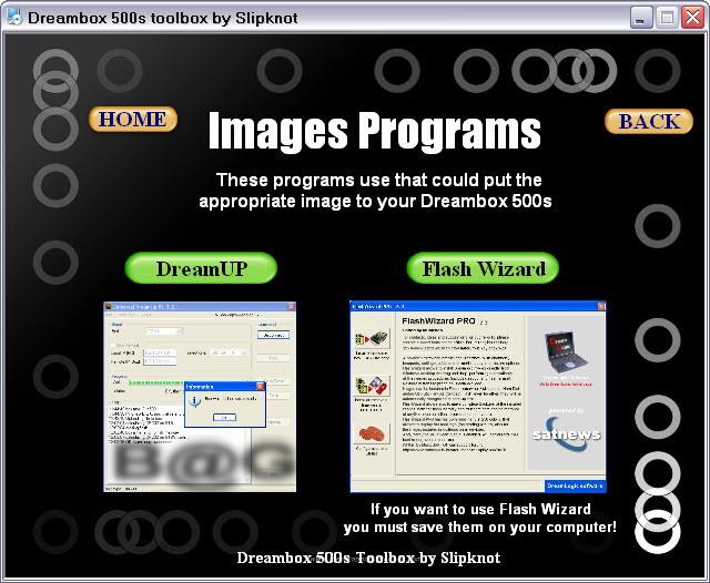 Dreambox 500s Toolbox