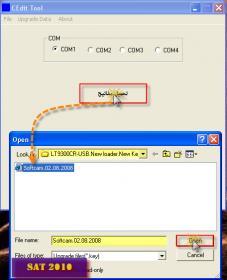 شرح بسيط بالصوة تحميل الشفره لجهاز لورنس lt9300cr-usb