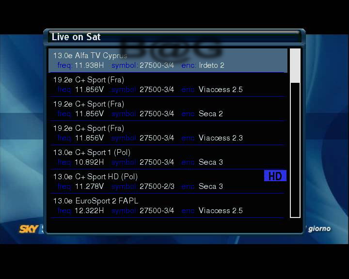 e1 Live on Sat v1.5
