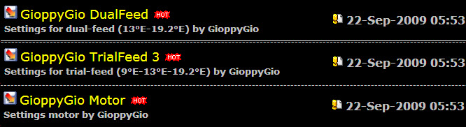 ���� ����� ������� �� ������ ������ New Settings by GioppyGio of 22-Sep-2009