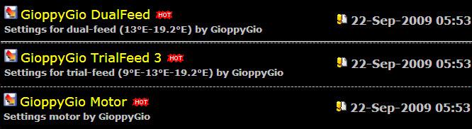 احدث ملفات القنوات من الموقع الرسمي New Settings by GioppyGio of 22-Sep-2009