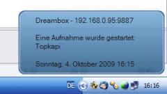 Dreambox-Growl Version 1.0
