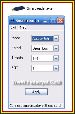 •• تعريفات خاصة بقارئة الكروت  USB Smargo على نظام  Dreambox & Windows
