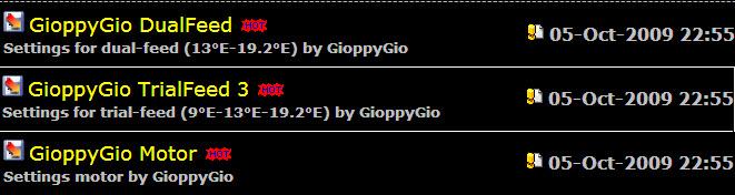 احدث ملفات القنوات New Settings by GioppyGio of 05-Oct-2009