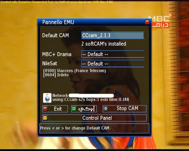 ������ 20/11/2009 ��� ������ ������� ����� Sifteam 1.9.4 �� ��� CCcam 2.1.3