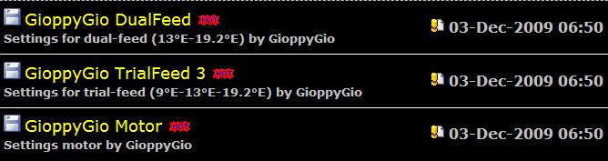 احدث ملفات القنوات New Settings by GioppyGio of 03-Dec-2009